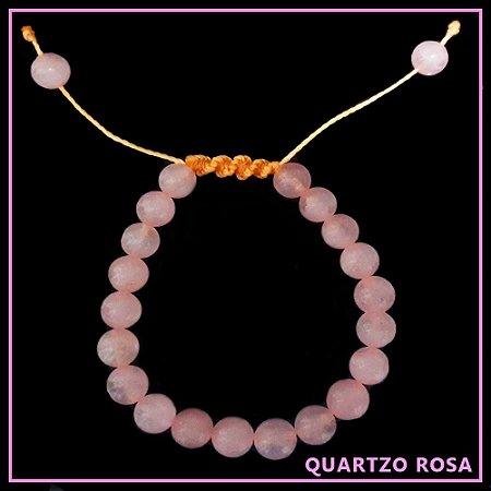 Pulseira de Pedra Natural Quartzo Rosa