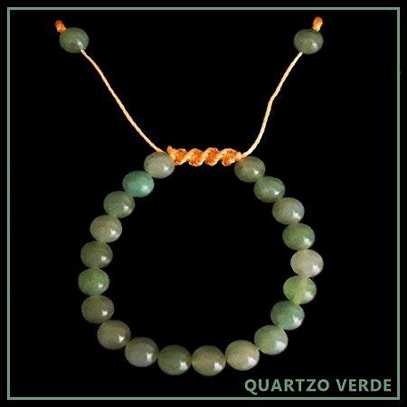 Pulseira de Pedra Natural Quartzo Verde