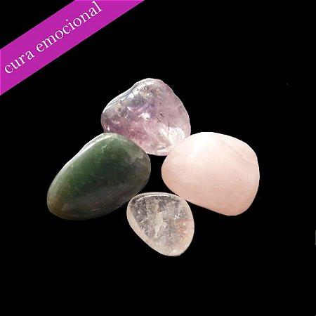 Kit 04 Pedras Naturais - Cura Emocional