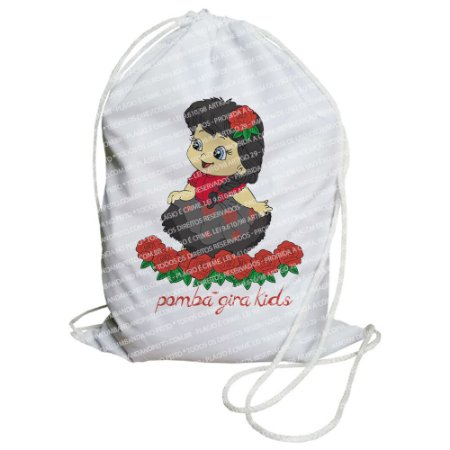 Mochilinha para Guias / Colares / Fios de Contas - Pomba-Gira Kids