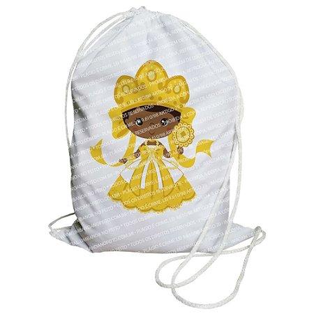 Mochilinha para Guias / Colares / Fios de Contas - Oxum Criança (Amarela)