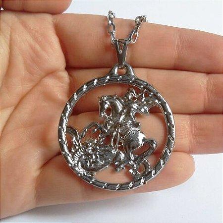 Colar Medalhão São Jorge