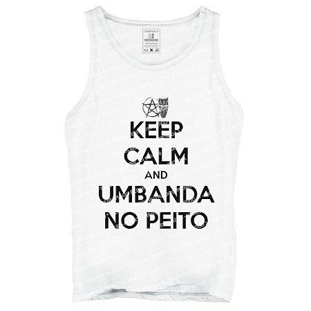 Regata Keep Calm and Umbanda No Peito