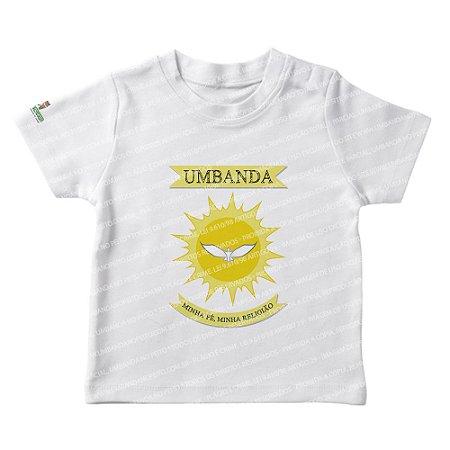 Camiseta Infantil Umbanda Minha Fé