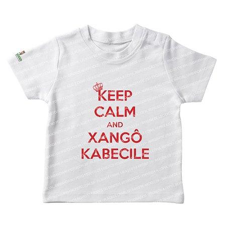 Camiseta Infantil Keep Calm and Xangô Kabecile