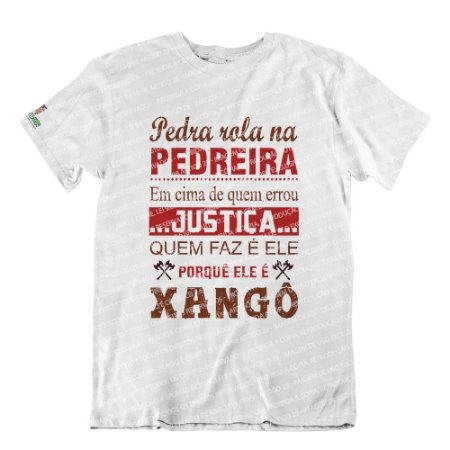 Camiseta Justiça Quem Faz é Ele