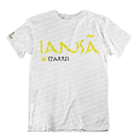 Camiseta Rainha Iansã (estampa amarela)
