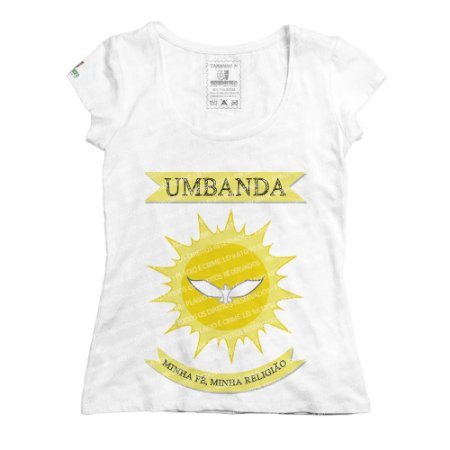 Baby Look Bandeira da Umbanda
