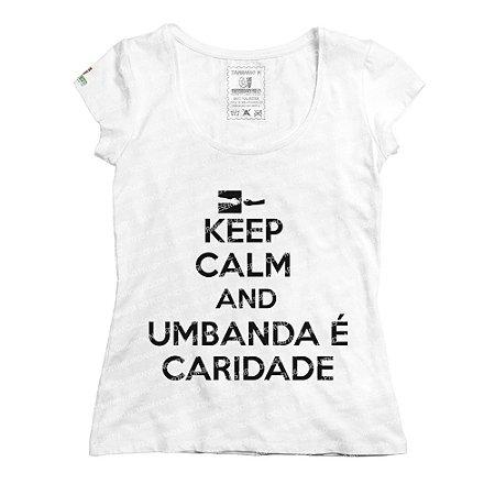 Baby Look Keep Calm and Umbanda é Caridade
