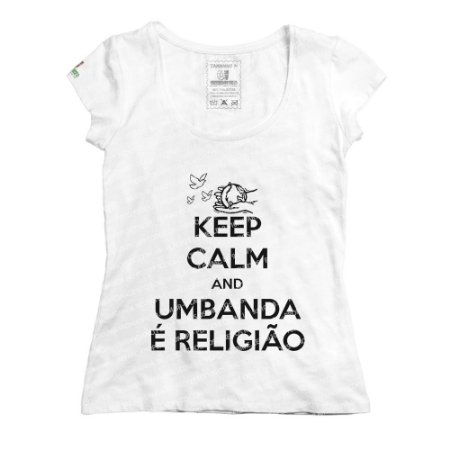 Baby Look Keep Calm and Umbanda é Religião