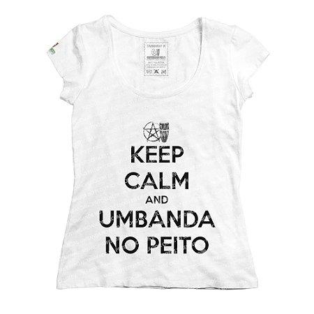 Baby Look Keep Calm and Umbanda No Peito