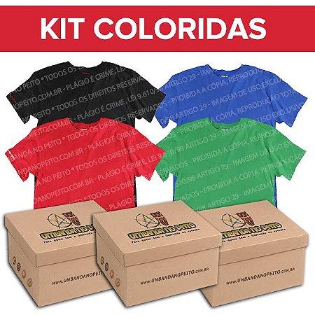 Kit Camisetas Coloridas (100& Algodão)