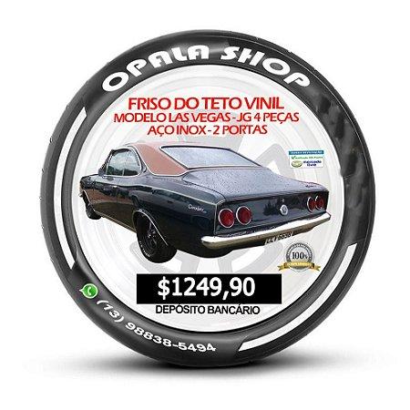 Friso do Teto Vinil Modelo Las Vegas - JG 4 Peças Aco Inox - 2 Portas