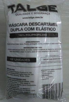 Mascara descartavel dupla pacote com 100 mascaras mais alcool em gel 200 ml