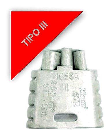 kit 100 peças Conector Tipo Cunha para Ramais de Ligação - Tipo III Incesa