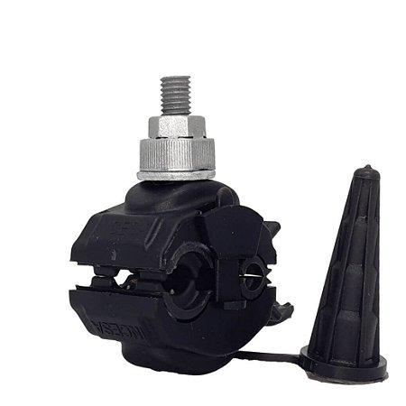 kit 05 peças Conector Derivação Perfurante Isolado 16x120 -16x120 Piercing - Incesa