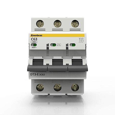 63A Disjuntor Termomagnético Tripolar DIN - Enerbras
