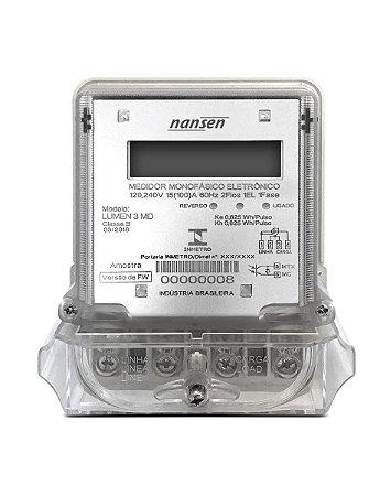Medidor Energia Monofásico Nansen LUMEN 3MD