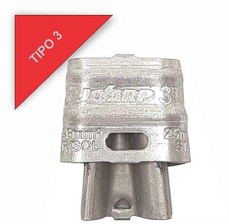 kit 50 peças Conector Tipo Cunha para Ramais de Ligação - Tipo 3