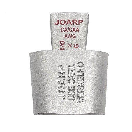 kit 10 peças Conector Tipo Cunha AL - CB2x4-1/0x6 AWG Vermelho 101003 - Joarp