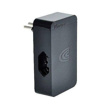 iClamper Energia 3 DPS Protetor Contra Raios e Surtos Elétricos com Plugue Giratório de 180º - Preto