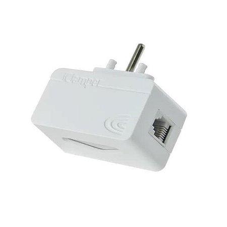 iClamper Tel Módulo Complementar RJ11  Protetor  Contra Raios e Surtos Elétricos - Branco
