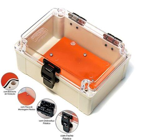 Caixa  para Medidor Monofásico ou Multiuso em PVC com Dobradiça e Fecho