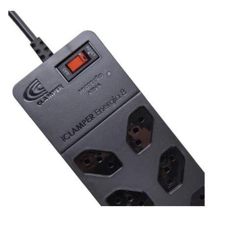 Filtro De Linha e DPS  iClamper Energia 8 Proteção Contra Raios e Surtos BIVOLT