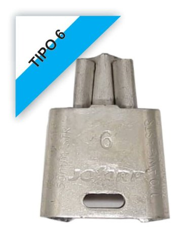 kit 12 peças Conector Tipo Cunha para Ramais de Ligação - Tipo 6