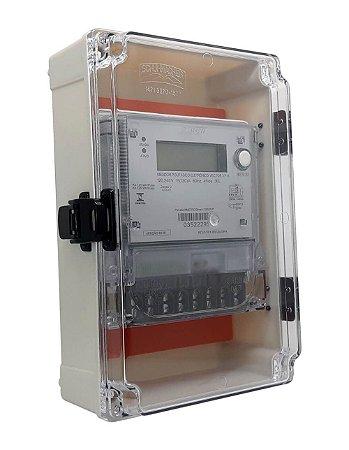 kit Caixa Com Dobradiças e Medidor Bifásico Vector 3PA - Bivolt