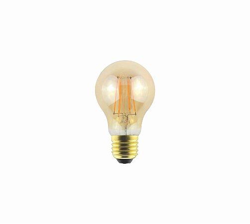 Lâmpada Filamento LED Vintage Bulbo Âmbar  A60 - AUTOVOLT