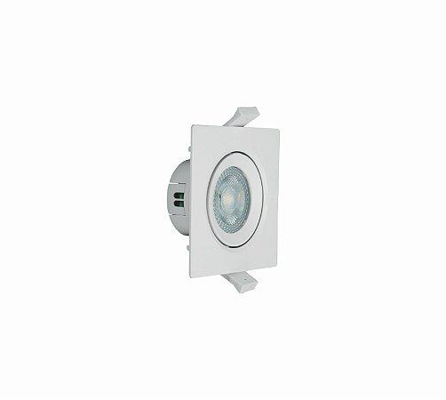 Spot LED  Embutir Direcionável Quadrado 4W - Luz Branca Autovolt