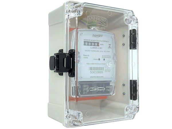 kit Caixa Com Dobradiças e Medidor Monofásico Lumen 2MC - Bivolt