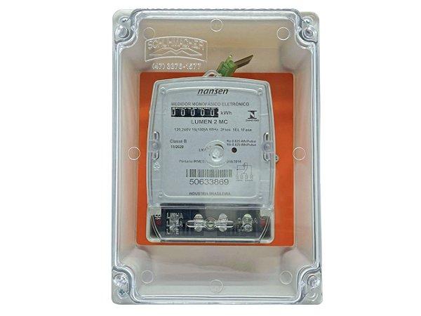Kit Caixa e Medidor Monofásico Lumen 2Mc - Bivolt