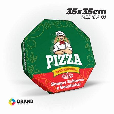Caixa Pizza - Impressão Padrão 35x35cm | 10unid.