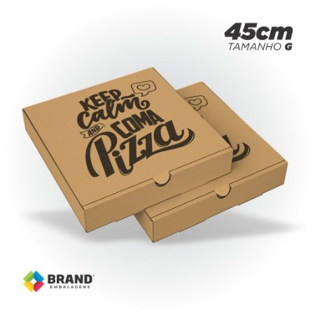 Caixa Kraft para Pizza - 35x35cm   25 Unid.
