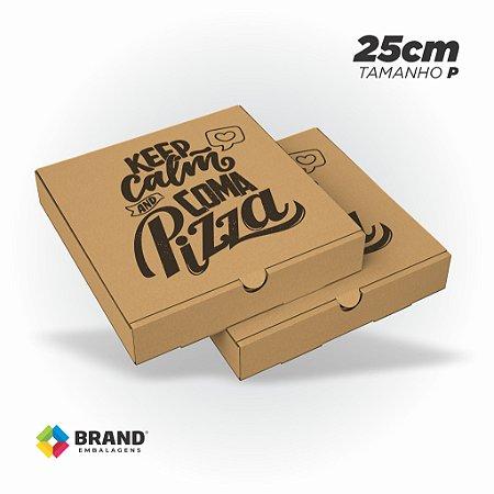 Caixa Kraft para Pizza - 25x25cm | 25 Unid.