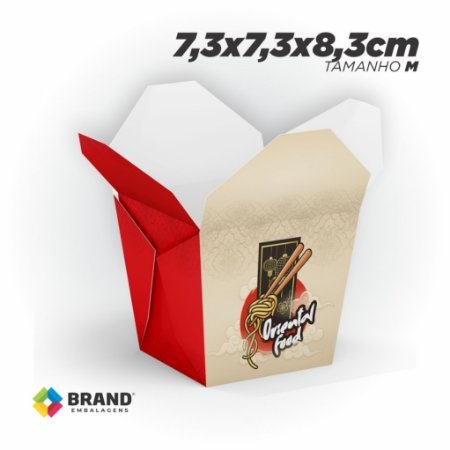 Box Comida Oriental - Tamanho M (500ml) | 100unid.
