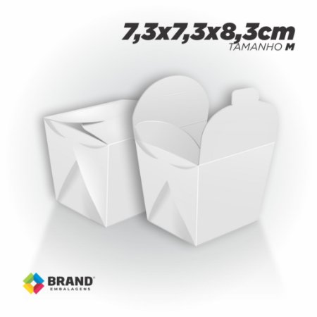 Box Comida Oriental Lisa - Tamanho M (500ml)   100unid.