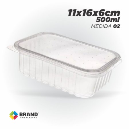 Pote Plastico - Freezer e Microondas 500ml   24 Unid.