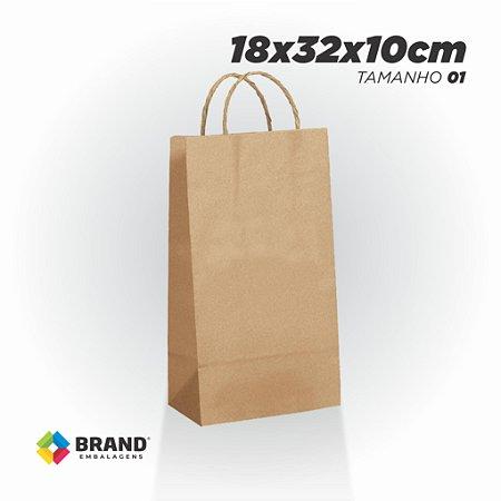 Sacola Kraft - Lisa - 18x32x10   10 Unid.