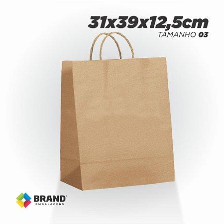 Sacola Kraft - Lisa - 31x39x12,5   10 Unid.