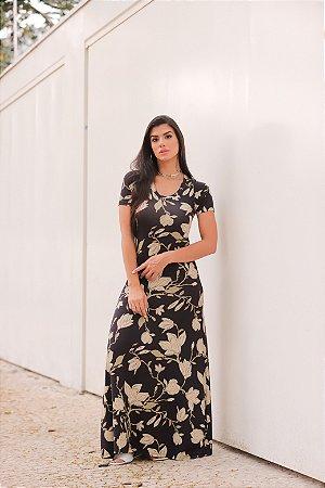 Vestido Longo Moda Primavera Verão Plus Size
