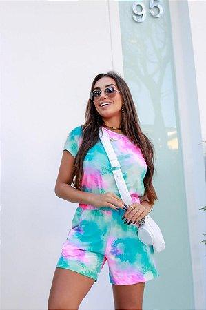Conjunto Calça Blusa Shorts Tie Dye