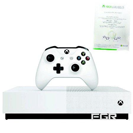 Console Xbox One S de 1TB Microsoft 1681 All Digital Edition Bivolt - Branca