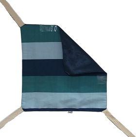 Rede de Cadeira Dupla-Face Bigo.Net Listrada Azul