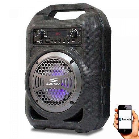Caixa Som Portátil Sumay Gallon Music 30w Rms Bluetooth