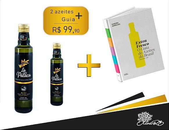 2 Azeites de Oliva La Pataca/250ml + Livro: Extra Fresco - O Guia de Azeites do Brasil