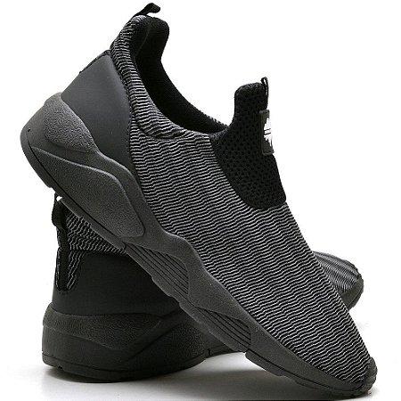 Tênis Urbano Caminhada Confortável 3D All Black 15005