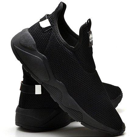Tênis Colmeia Caminhada Confortável All Black 15004